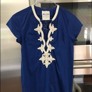 Gallabia Jcrew blue caftan dress size m/am
